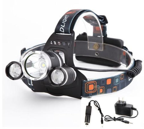 5000 Lumens Super Bright Long Range Headlamp. Comes with AC and Car Charger Kit.