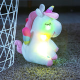 Color Changing LED Rainbow Plush Unicorn
