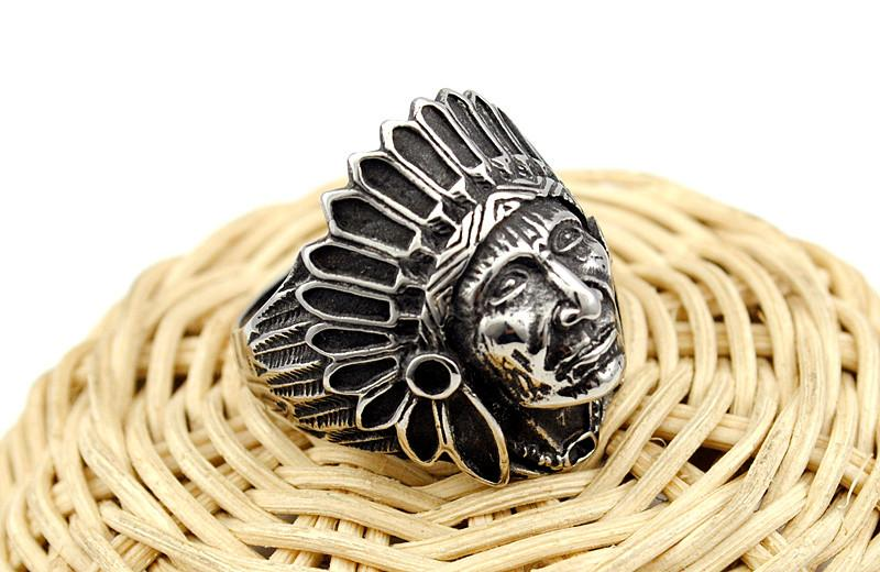 Apache Indian Chief Head Ring