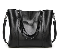 Exquisite Oil Wax Leather Handbag