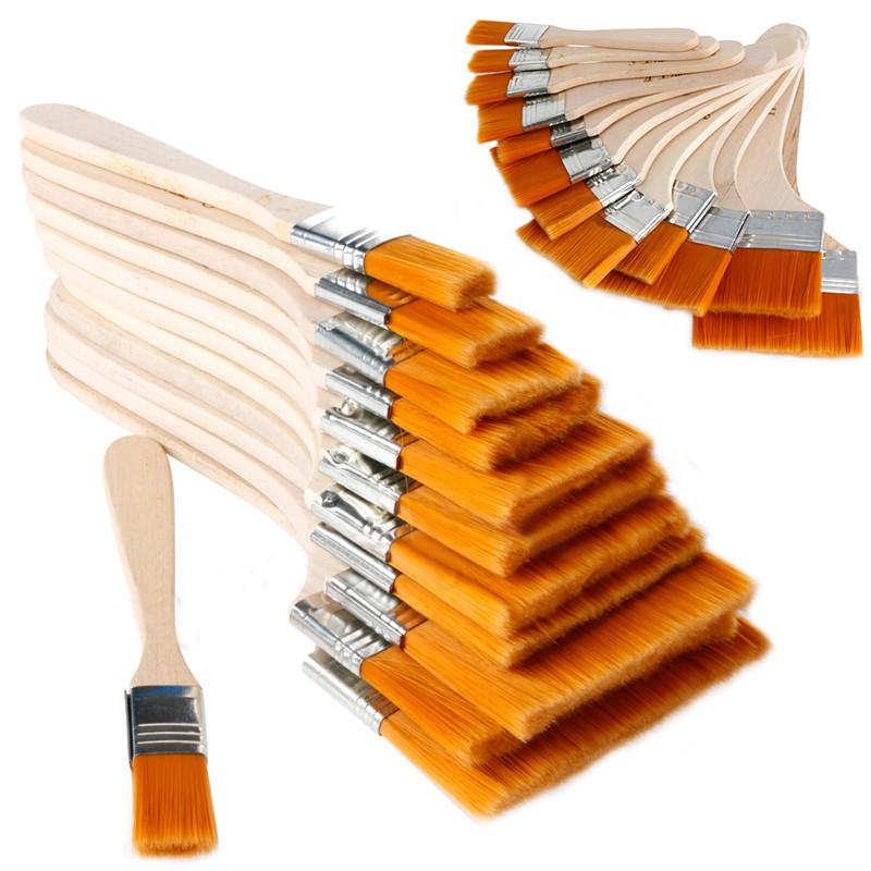12pcs Wooden Oil Painting Brush Set