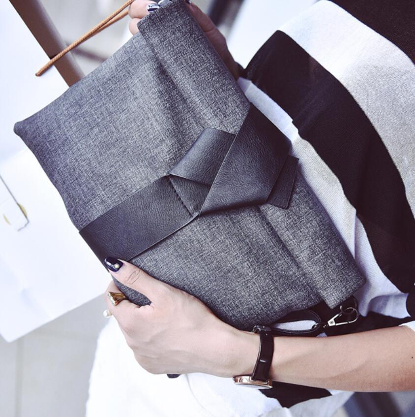 Bow Envelope Clutch Bag
