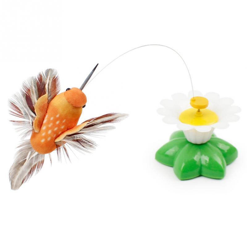 Rotating Butterfly/Bird Toy For Cats