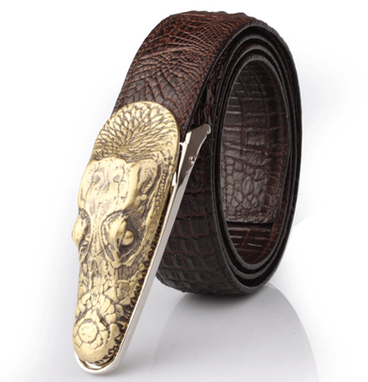 Luxury Leather Crocodile Belt For Men