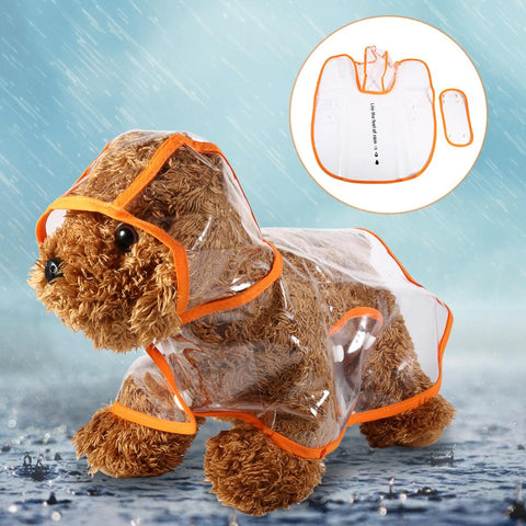 Transparent Raincoat For Pet Dog