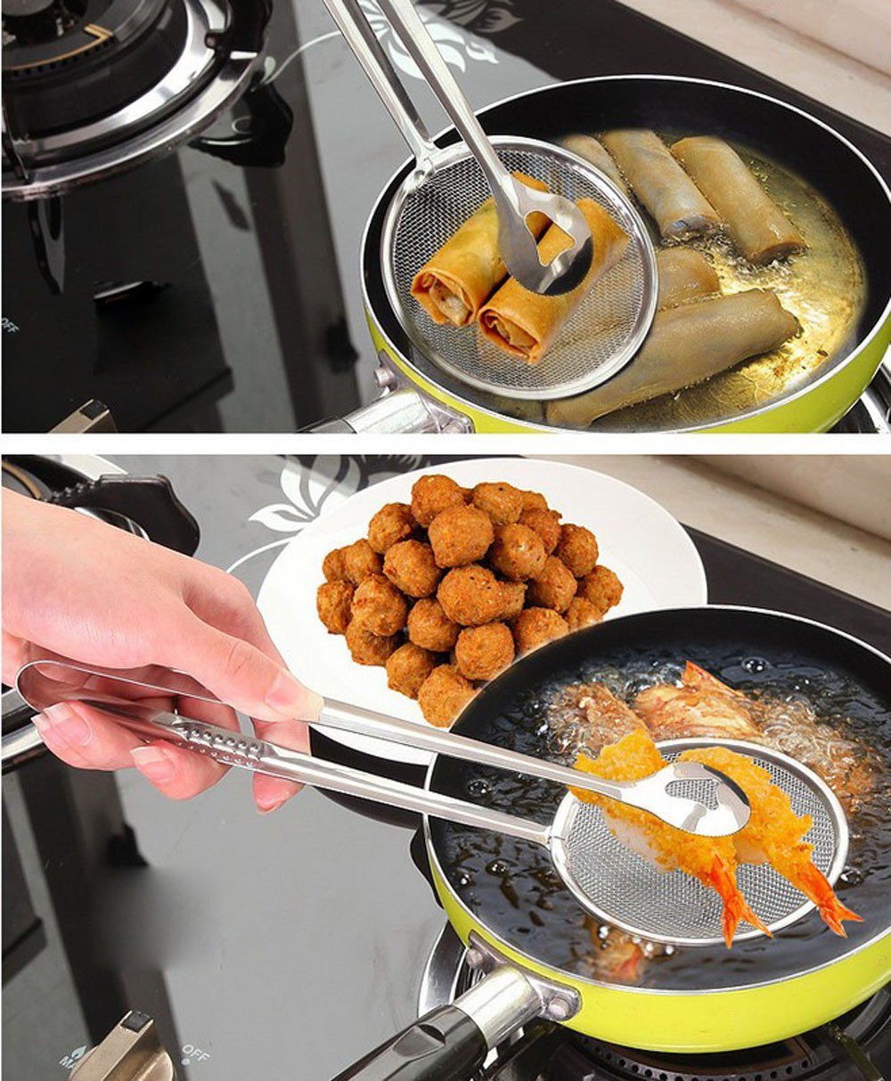 Multi-Functional Oil-Frying Spoon With Filter
