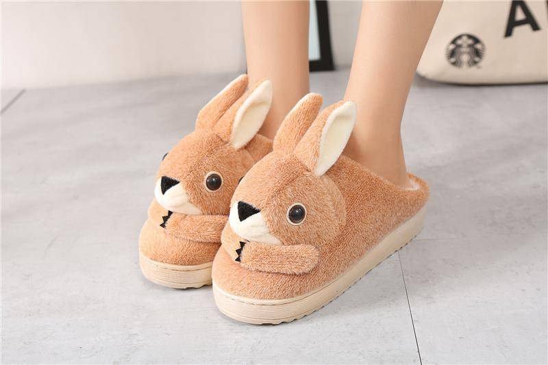 Rabbit Plush Slippers