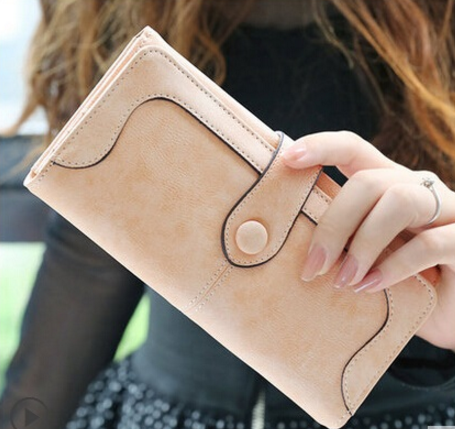 Retro Matte Stitching Women's Wallet