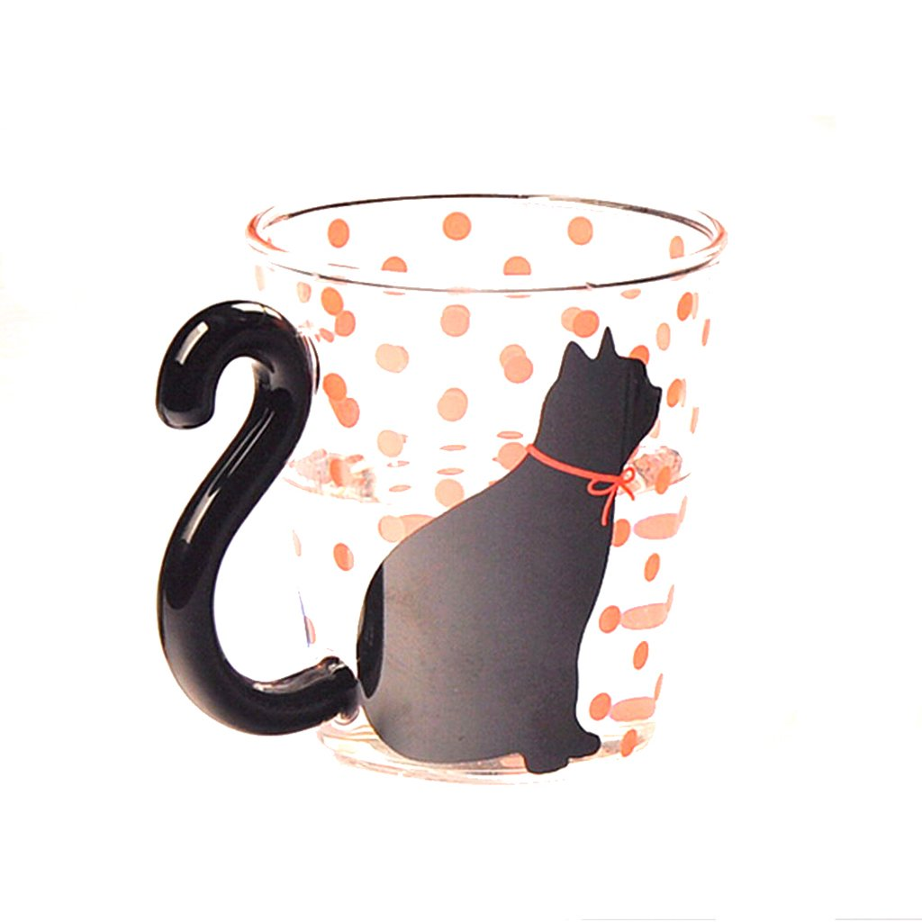 Cat Silhouette Glass Mug