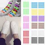 12pcs Elastic Silicone No Tie Shoelaces