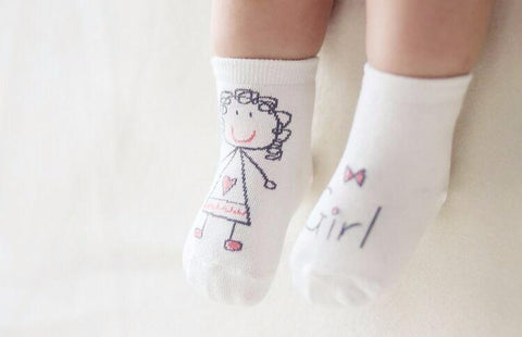 Baby Walker Cotton Anti-Slip Socks For Boys And Girls
