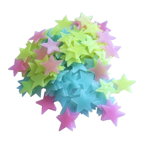 100pcs/lot Glowing Wall Star Stickers Kids Bedroom Home Decor