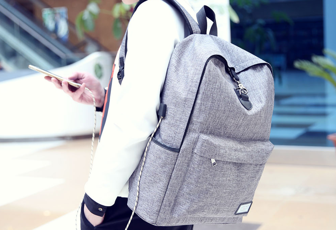 USB Charging Backpack For Men