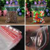 100pcs Zip Lock Bag For Home Sundries Storage