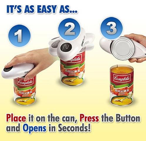 Smooth Edge Cordless Battery Operated Electric Can Opener with FREE Jar Wrench Opener