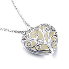 Magical Fairy Luminous Glow In The Dark Heart Locket Necklace