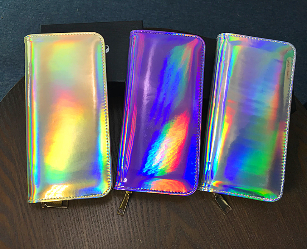 Unicorn Rainbow Holographic Clutch