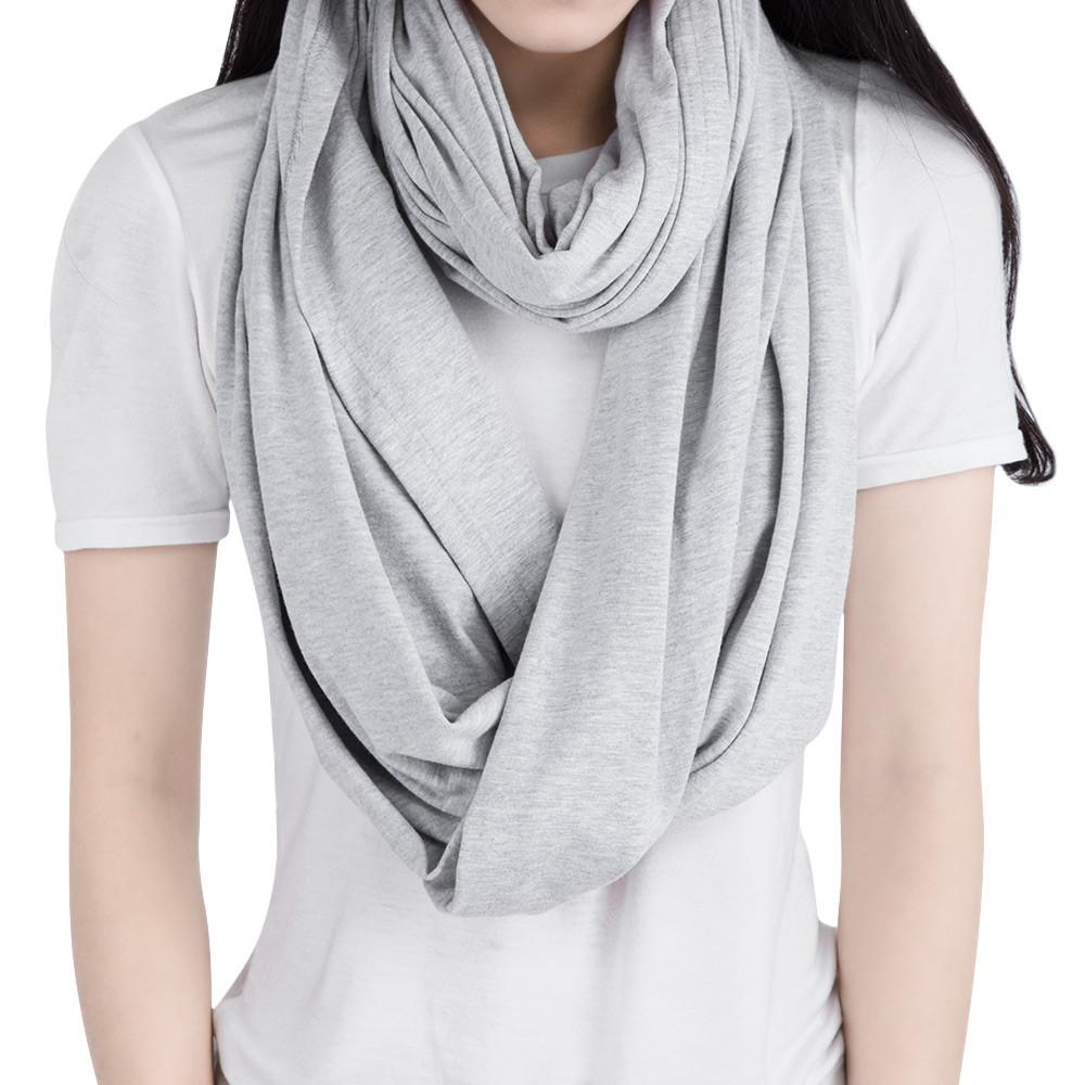 Breathable Cotton Muslin Large Size Nursing Infinity Scarf & Cover