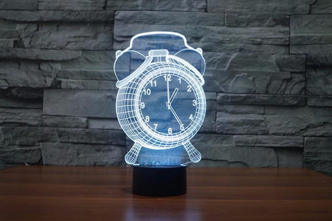 Alarm Clock 3D Visual LED Night Light