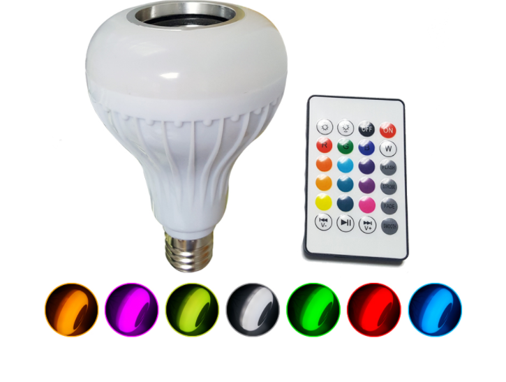 LED Wireless Bluetooth Light Bulb Speaker