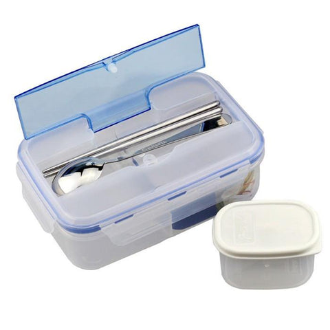 3 Compartment Bento Lunch Box with Soup Bowl Chopsticks and Spoon