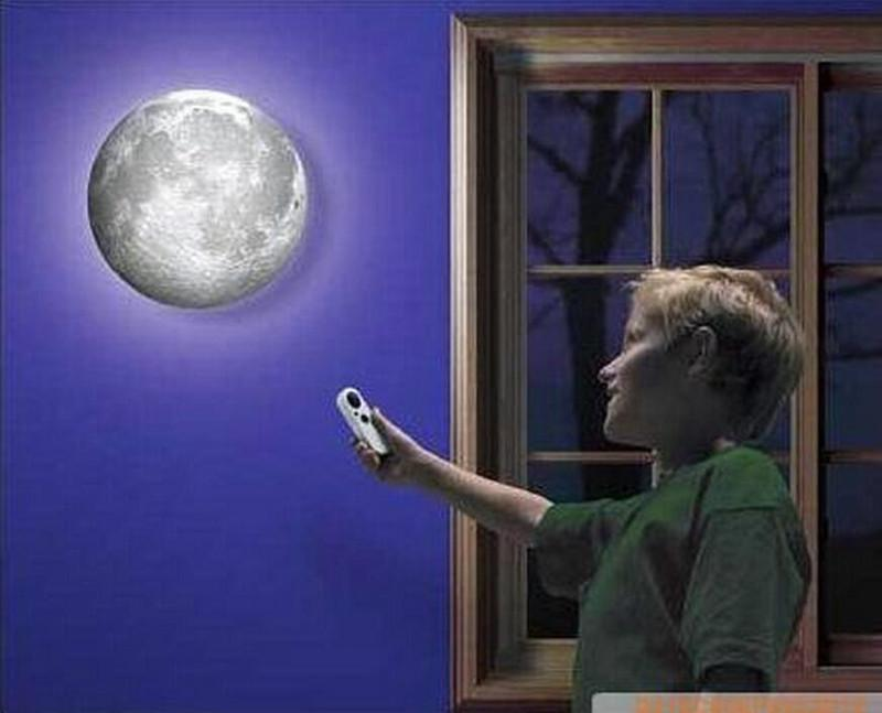 LED Healing Moon Night Light Lamp With Remote Control