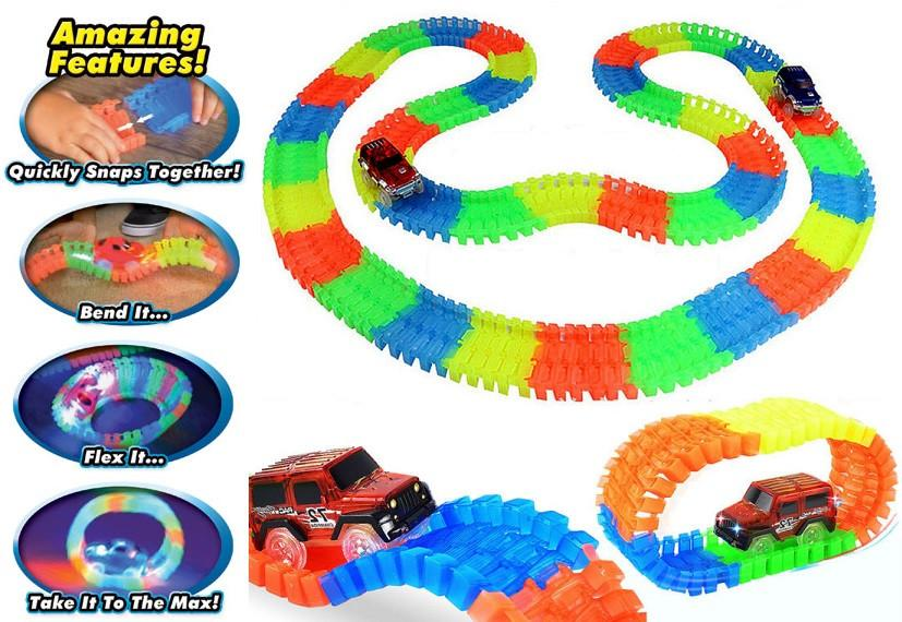 Glow Flex Tracks Racing Set