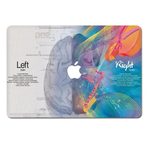 Leonardo Da Vinci Right And Left Brain Decal For Macbook Air / Retina / Pro 11