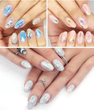 21pcs Holographic DIY Nail Art Broken Glass Foil