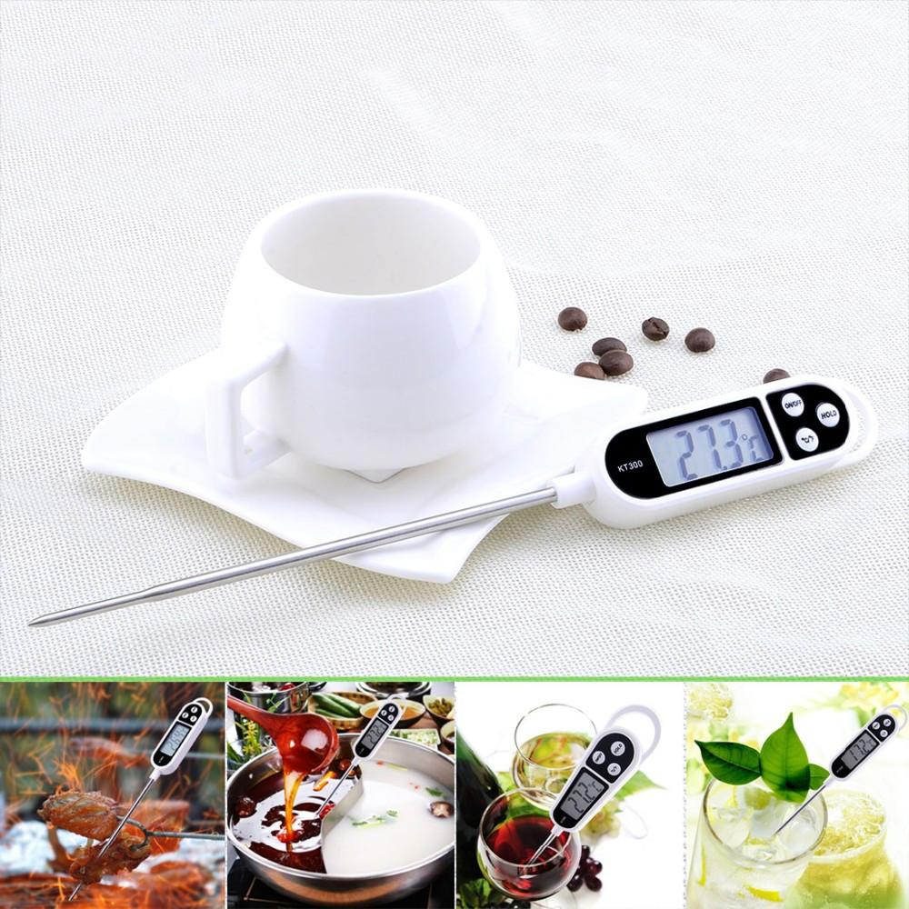 Quick Read Digital Food Thermometer w/ Large Screen & Stainless Steel Probe.