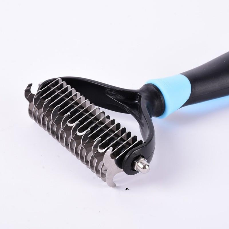 Pet Dematting Comb, De-shedding Tool & Undercoat Rake - Suitable For Dogs And Cats