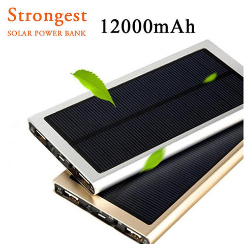 Ultra-Portable Solar Power Bank 12000mAh