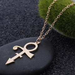 Prince Memorial Symbol Love Logo Necklace