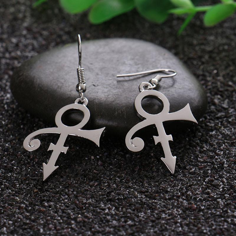 Prince Memorial Symbol Love Logo Earrings