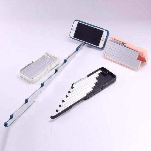 Bluetooth Remote With Selfie Stick Phone Case For iPhone 6/6s/6+/6s+/7/7+ (4.7' & 5.5')