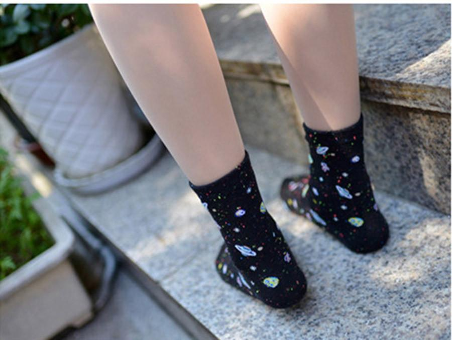 Space Fashion Women's Cotton Tube Socks