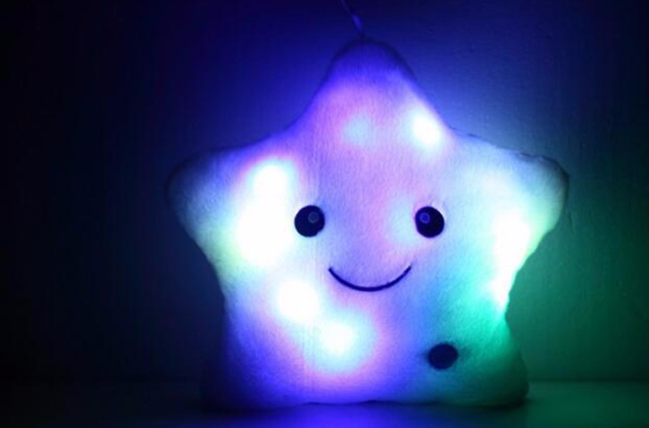Luminous Christmas Star Pillow