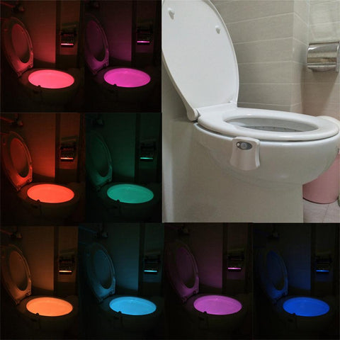 8 Colors LED Motion Sensor Toilet Seat Night Light