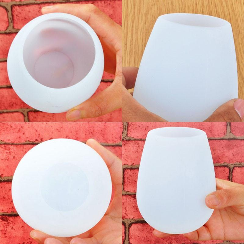 Unbreakable Stemless Silicone Wine Glasses