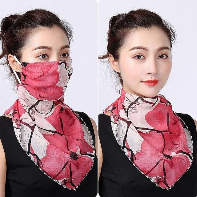 Reusable Fashion Anti-UV Face Scarf For Women