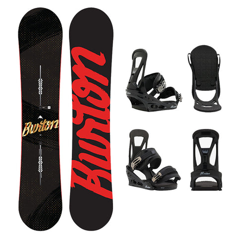 BURTON RIPCORD WIDE SNOWBOARD PACKAGE - 2017