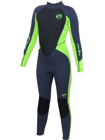 2019 Sola Storm 3/2MM Summer Wetsuit Graphite Lime