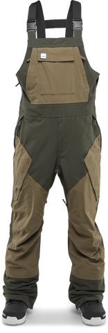 THIRTY-TWO BASEMENT BIB SNOWBOARD PANTS - MILITARY - 2019