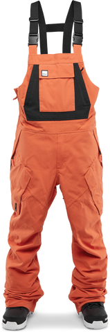 THIRTY-TWO BIB SNOWBOARD PANTS - ORANGE - 2019