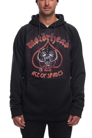 686 MOTORHEAD BONDED FLEECE HOODY - BLACK - 2019 - Boardwise