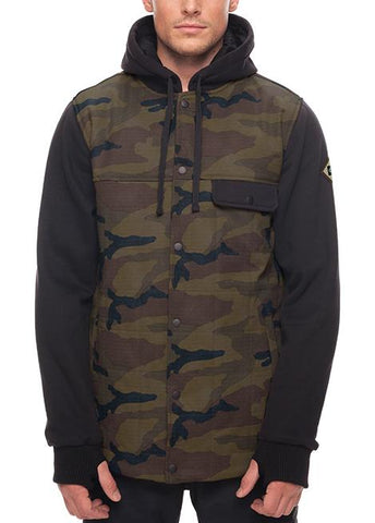 686 BEDWIN INSULATED SNOWBOARD JACKET - FATIGUE CAMO PRINT - 2018 - Boardwise