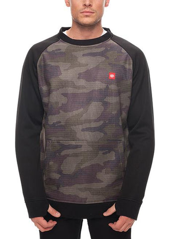 686 CREWNECK BONDED FLEECE SWEATSHIRT - FATIGUE CAMO PRINT - 2018 - Boardwise
