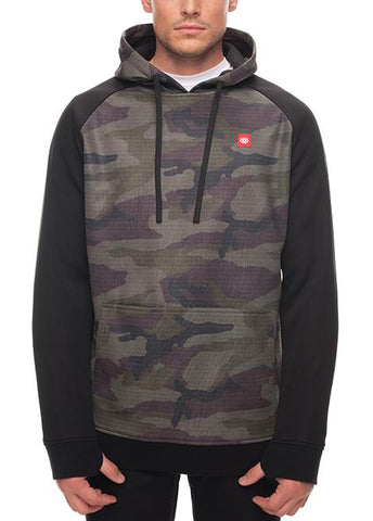 686 KNOCKOUT BONDED FLEECE HOODY - FATIGUE CAMO PRINT - 2018 - Boardwise