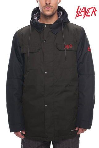 686 SLAYER INSULATED SNOWBOARD JACKET - BLACK DENIM - 2020 - Boardwise