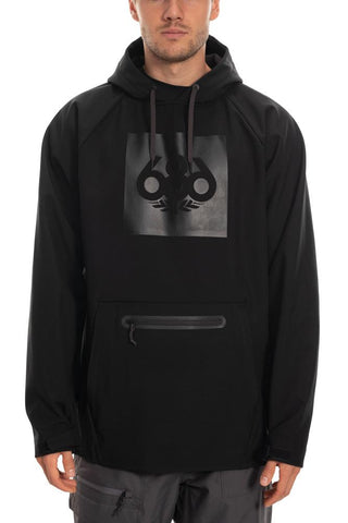 686 WATERPROOF HOODY - BLACK - 2020 - Boardwise